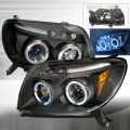 2003-2006 Toyota 4Runner Projector Headlight Black - 1 Pair