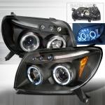 2003-2006 Toyota 4Runner Projector Headlight Black - 1 Pair