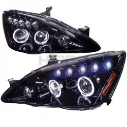 2003-2007 Honda Accord Halo Projector Headlight Smoked- 1 Pair