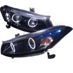 2008-2012 Honda Accord Halo Projector Headlight Smoked- 1 Pair