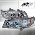 1994-1997 Honda Accord Halo Projector Headlight Chrome- 1 Pair