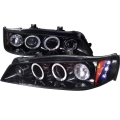 1994-1997 Honda Accord Halo Projector Headlight Smoked- 1 Pair