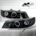 1994-1997 Honda Accord Halo Projector Headlight Black- 1 Pair