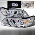 1998-2002 Honda Accord Halo Projector Headlight Chrome- 1 Pair
