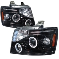 2007-2011 Chevrolet Avalanche Halo Projector Headlight Smoked- 1 Pair