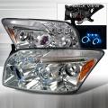 2007-2010 Dodge Caliber Halo LED Projector Headlight Chrome- 1 Pair