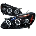 2003-2008 Toyota Corolla Halo Projector Headlight Smoked- 1 Pair