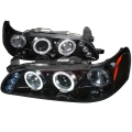 1993-1997 Toyota Corolla Halo Projector Headlight Smoked- 1 Pair