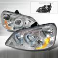 2001-2003 Honda Civic Halo Projector Headlight Chrome- 1 Pair