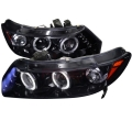 2006-2011 Honda Civic Projector Headlight Smoked- 1 Pair
