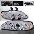 1992-1995 Honda Civic Halo LED Projector Headlight Chrome- 1 Pair