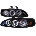 1992-1995 Honda Civic Gloss Back Projector Headlight Smoked- 1 Pair