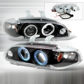 1992-1995 Honda Civic Halo Projector Headlight Black- 1 Pair