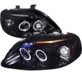 1999-2000 Honda Civic Gloss Back Projector Headlight Smoked- 1 Pair