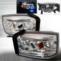 2005-2008 Dodge Dakota Halo Projector Headlight Chrome- 1 Pair