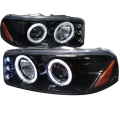 2000-2006 GMC Denali Halo Projector Headlight Smoked- 1 Pair